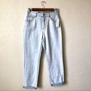 Pacsun NWT Sophie Blue Cuffed Light Wash Mom Jean